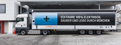 SCHERM Group| 2017 | SCHERM and BMW Group take second full-electric truck into operation