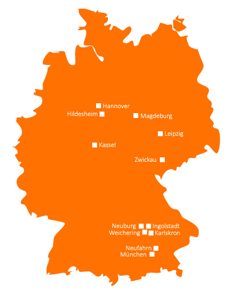 SCHERM Group | Locations in Germany