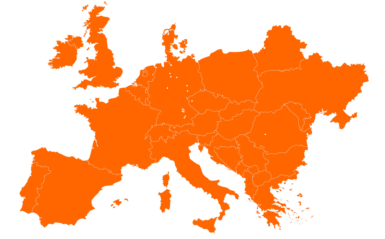 SCHERM Group | Locations in Europe