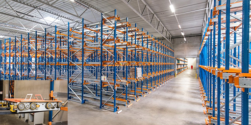 SCHERM Group - foodstuff logistics | Channel racking system